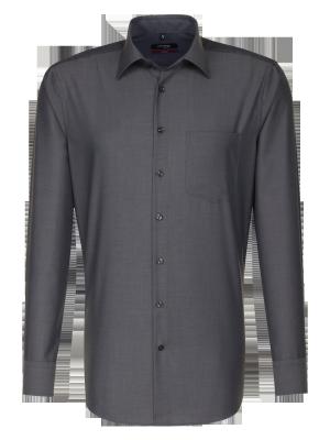 Seidensticker Hemd Regular Fit Kent bügelfrei grey