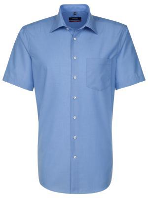 Seidensticker Hemd Regular Fit Kent bügelfrei blue