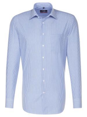Seidensticker Hemd Modern Fit Kent bügelfrei stripe blue/w