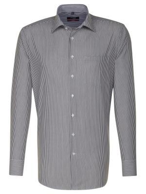 Seidensticker Hemd Modern Fit Kent bügelfrei stripe bla/w