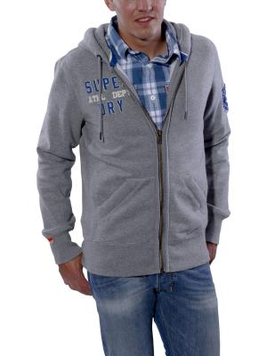 Superdry Legacy Zip Hood granite marl