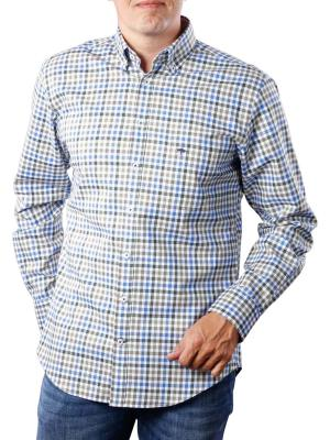 Fynch-Hatton Coloured Combi Shirt everglade blue