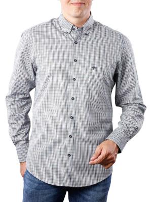 Fynch-Hatton Combi Check Shirt khaki navy
