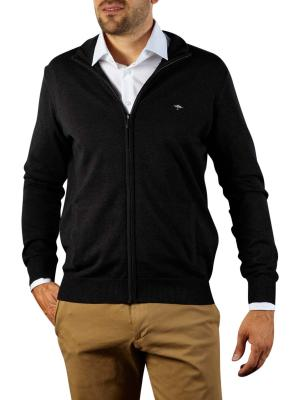 Fynch-Hatton Cardigan-Zip Sweater charcoal