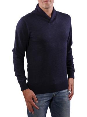 Tommy Hilfiger Plaitet Shawl Sweater navy