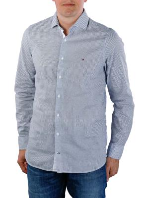 Tommy Hilfiger Slim Cotton Linen Printed Shirt blue/white