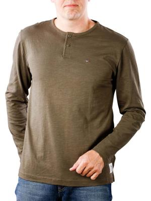 Tommy Jeans Long Sleeve Henley forest night