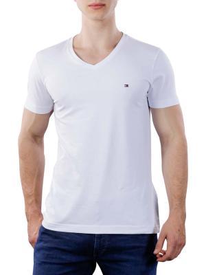Tommy Hilfiger Core Stretch Slim V-Neck T-Shirt bright white