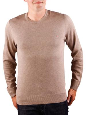 Tommy Hilfiger Platied Cotton Silk Sweater fossil heather