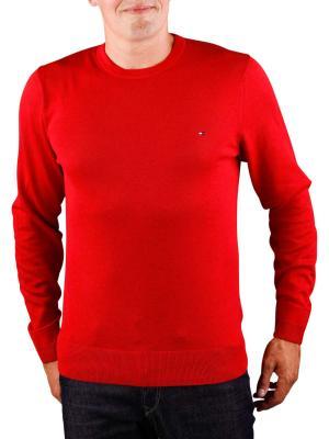 Tommy Hilfiger Plaited Cotton Silk Sweater haute red heather