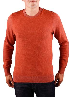 Tommy Hilfiger Wool Blend Textured Sweater rooibos tea