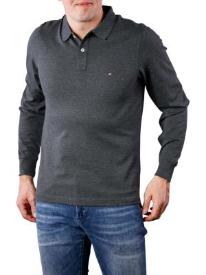Tommy Hilfiger Luxury Slim Tipped Polo charcoal htr