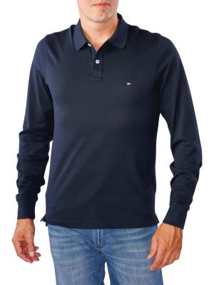 Tommy Hilfiger Luxury Slim Tipped Polo sky captain