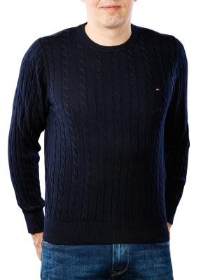 Tommy Hilfiger Classic Cotton Blend Cable Crew sky captain