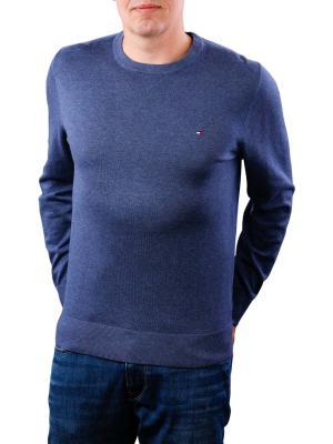 Tommy Hilfiger Cotton Silk Crewneck vintage indigo heather
