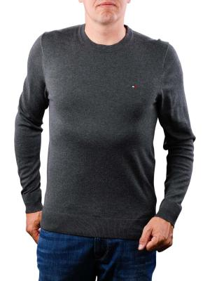 Tommy Hilfiger Core Cotton Silk CNeck charcoal htr