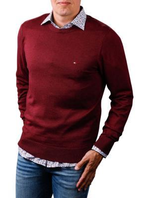Tommy Hilfiger Cotton Silk Crewneck tawny port heather