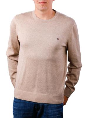 Tommy Hilfiger Cotton Silk Crewneck batique khaki heather