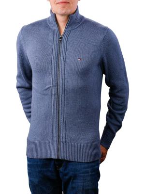 Tommy Hilfiger Chunky Cotton Zip Through vintage indigo