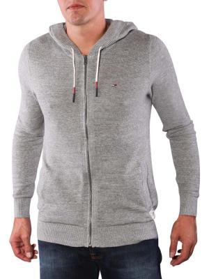 Tommy Jeans Gibbs Zip Cardigan light grey heather