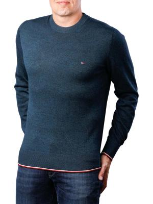 Tommy Hilfiger Tipped Mouline Crewneck sky captain