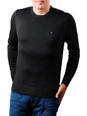 Tommy Hilfiger Core Cotton Silk CNeck flag black