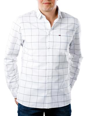 Tommy Jeans Window Pane Shirt classic white