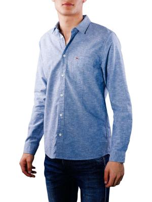 Tommy Jeans Linen Shirt black iris