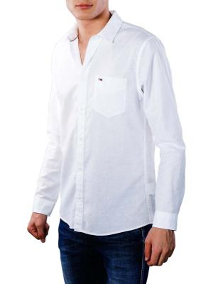 Tommy Jeans Linen Shirt classic white