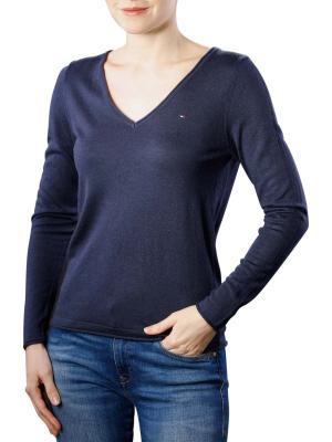 Tommy Jeans Woolblend V-Neck Sweater black iris