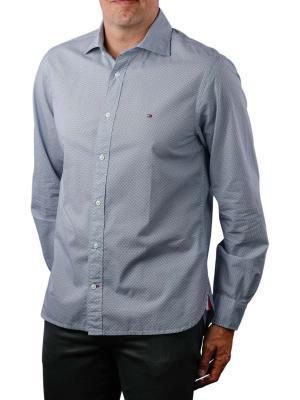 Tommy Hilfiger Fake Solid Print Shirt bright white navy