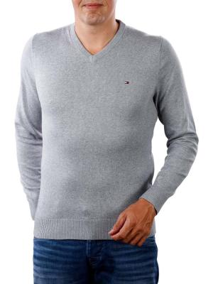 Tommy Hilfiger Pima Cotton Cashmere V quicksilver heater