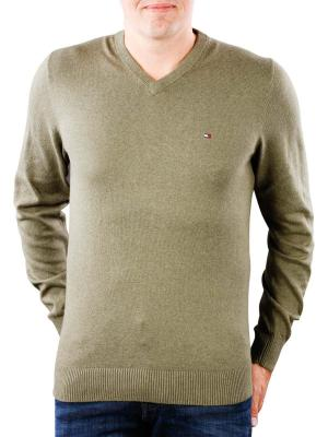 Tommy Hilfiger Pima Cotton Cashmere V dusty olive heather