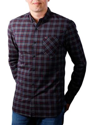 Tommy Jeans Check Shirt windsor wine/multi