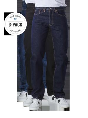 Levi's 505 Jeans Straight Fit stonewash/rinse/black Trio