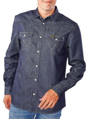 Wrangler Western Denim Shirt rinse indigo