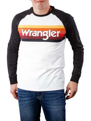 Wrangler LS Kabel Raglan T-Shirt offwhite