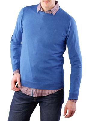 Wrangler Fine Gage Crew Knit true blue