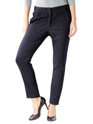 Yaya Pinstripe Relaxed Pantalon midnight blue dessin