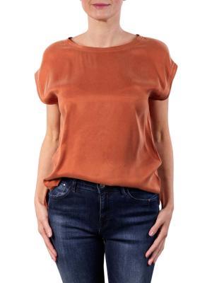 Yaya Fabric Mix T-Shirt stone red