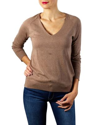 Yaya V-Neck Sweater chocolate melange