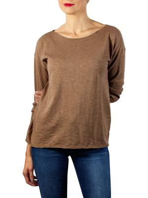 Yaya Cotton Cashmere Blend Sweater chocolate melange