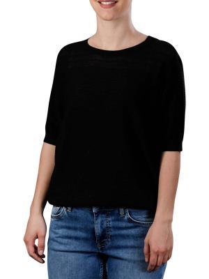Yaya Sweater With Short Sleeves black
