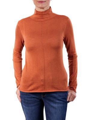 Yaya Knitted High Neck Top light rust