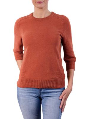 Yaya Mix Ribbed Sweater stone red