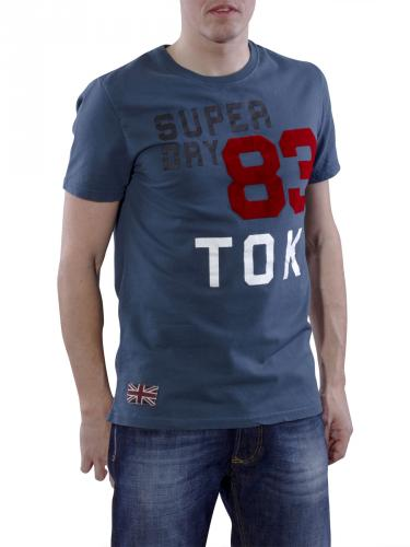Superdry Right Field Tee shibuya blue