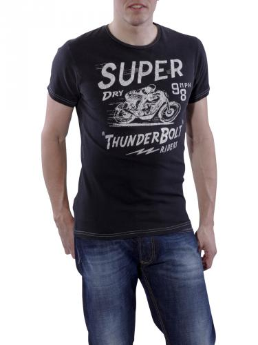 Superdry Thunderbolt Greaser Tee thunder black