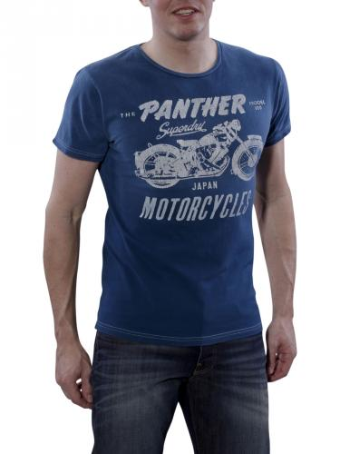 Superdry Panther Greaser Tee racing blue
