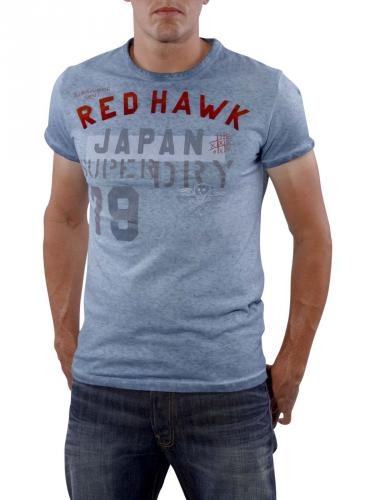 Superdry Red Hawk Sunscorched Tee Wedgewood