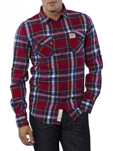 Superdry Lumberjack Twill Shirt arazona cranberry